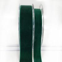 012 Hunter Green Swiss Velvet Ribbon, 5 Sizes - Sold by the yard