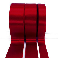 300 Col. 197 Dk Red Stephanoise Double faced Satin 5 Sizes Sold by the yard