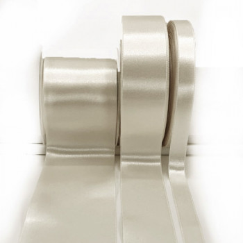 422 Col. 201 - Bridal White  Renaissance Double-Face Satin Ribbon, Sold by the Yard - 3 sizes