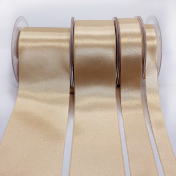422 Col. 212 - Beige  Renaissance Double-Face Satin Ribbon, Sold by the Yard - 7 sizes