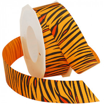 """052 Tiger Grosgrain - Orange -  7/8"""" Sold by the 5 Roll"""