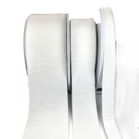 1084  White Grosgrain 100% cotton : 3 Sizes. Sold by the Yard