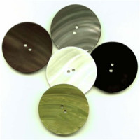1425 - 2 inch Rivershell Button - in 6 Colors