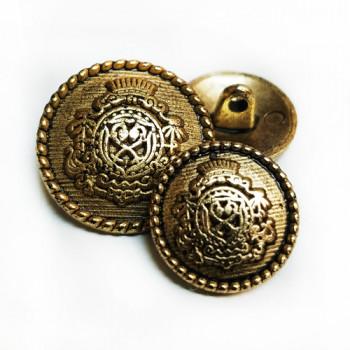 17-650  Antique Gold Blazer Button - 2 Sizes