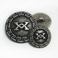 17-555 Blazer Button Ant. Silver  2 Sizes