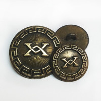 17-556 Antique Gold Metal Button, 2 Sizes