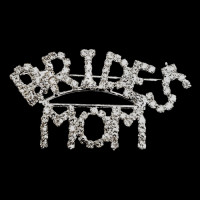 BW-170A- Bride's Mom Crystal Rhinestone Pin