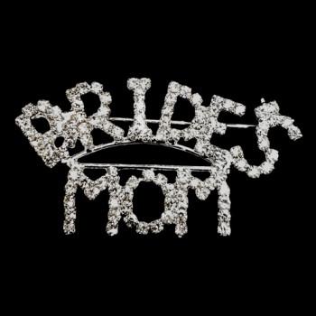 BW-170A- Bride's Mom Crystal Rhinestone Pin