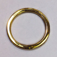 GM-013 Gold Metal O-ring for Lingerie or Swimwear, 3 Sizes