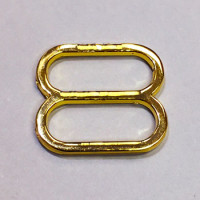 GM-014 Gold Metal Slider for Lingerie and Swimwear, 3 Sizes