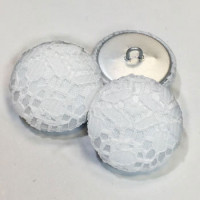 W-1038-D White Lace Buttons, 3 Larger Sizes - Priced by the Dozen