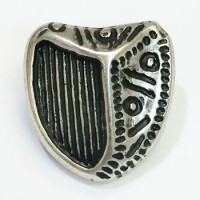 M-025 Antique Silver, Irish Coat of Arms Button