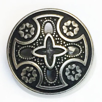 M-029 Antique Silver Metal Cross Fashion Button