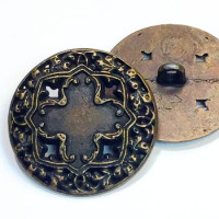 M-034-Antique Brass Vintage Cross Metal Fashion Button