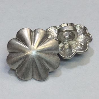 M-1204-D  Matte Silver Metal Concho Button - Priced per Dozen