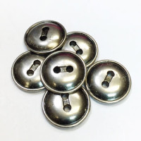 M-1213-D Metal 2-Hole Button, Priced per Dozen