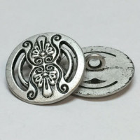 M-7682-Metal Fashion Button, 2 Sizes