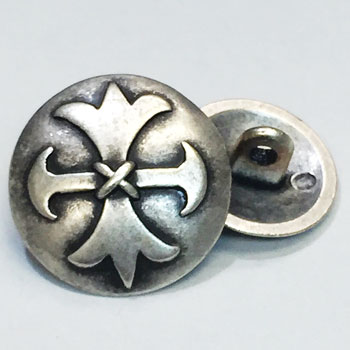 M-7825 -Antique Silver Celtic Cross Button - in 2 Sizes