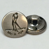 M-7833-Metal Fashion Button