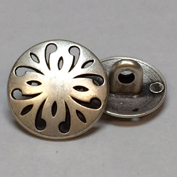 M-7841-Metal Fashion Button, 2 Sizes