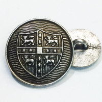 M-822 - Antique Silver Blazer Button, 2 Sizes