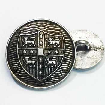 M-822 - Antique Silver Blazer Button, 3 Sizes
