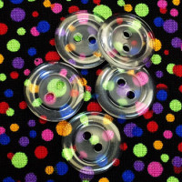P-8325-D Clear Fashion Button, Priced by the Dozen
