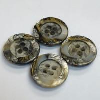 SB-023- Marbled Grey Shirt Button, Priced per Dozen