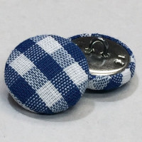 YF-1335-D Plaid Covered Button - 2 Sizes, Sold by the Dozen