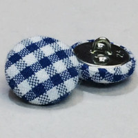 YF-1336-D Plaid Covered Button, Sold by the Dozen