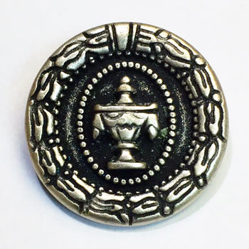 M-026-Antique Silver Metal Fashion Button