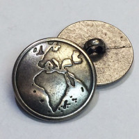 M-097 - Continent of Africa Metal Button