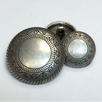 M-1605-Concho Style Metal Button, 2 Sizes
