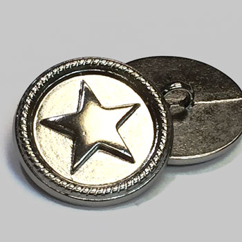 M-164 - 5-Point Star Metal Button