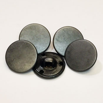 M-7243-Pewter Flat Top Metal Button, Priced by the Dozen