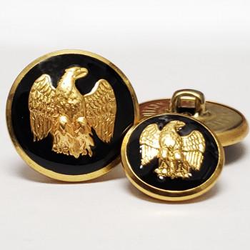 29932B Gold and Black Epoxy Blazer Button - 2 Sizes