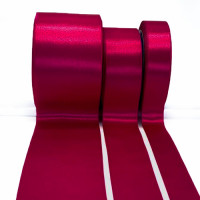 422 Col. 278 Fuchsia Renaissance Double-Face Satin Ribbon, Sold by the Yard - 5 sizes