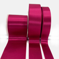 300 Col.073 Fuchsia Stephanoise Double faced Satin 5 Sizes Sold by the yard