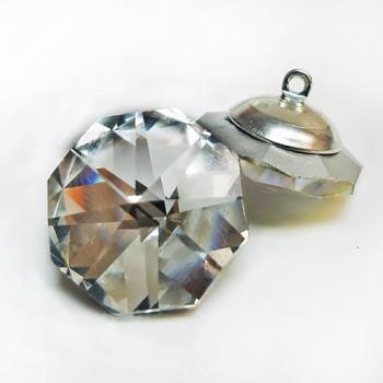 3000A - Crystal Octagon-Shaped Rhinestone Button, 18mm