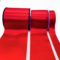 422 Col. 204 -Red Renaissance Double-Face Satin Ribbon, Sold by the Yard - 3 sizes