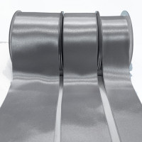 422 Col.316  Lt Grey Renaissance Double-Face Satin Ribbon, Sold by the Yard - 4 sizes