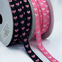 "5-174 Heart Ribbon 2 Colors 1/2""Sold by the Yard"