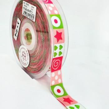 "5-308  Pattern Grosgrain Ribbon, 1-1/2"" - Sold by the Yard"