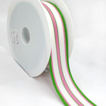 """5-307  - Striped Pattern Grosgrain Ribbon Grosgrain, 1-1/2"""" - Sold by the Yard Pattern"""