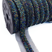 "57476  Blue and Turquoise Beaded Ribbon,  5/8"" - Sold by the Yard"