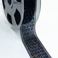 "57477  Blue Multi-Color Beaded Ribbon, 1-1/2"" - Sold by the Yard"