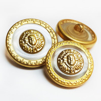 M-7918 - Sun Pattern Metal Fashion Button, 3 sizes
