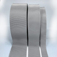 8000 Col. 102 Light Grey Petersham Grosgrain Ribbon, 8 Sizes - Sold by the Yard