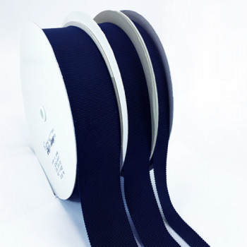 8000 Col. 193 Navy  Petersham Grosgrain Ribbon, 8 Sizes - Sold by the Yard