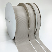 8000  Col. 2 Light Grey Petersham Grosgrain Ribbon, 10 Sizes - Sold by the Yard